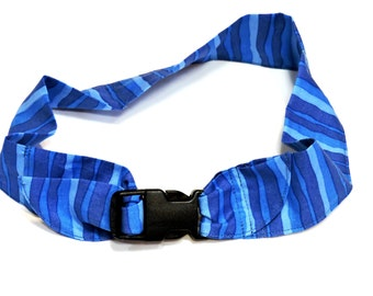 "Dog Cooling Collar, Gel Neck Cooler Bandana, Stay Cool Tie Band 4 Extra Large Dogs Size XL fits 22"" to 26"" inch neck, Blue Stripe iycbrand"