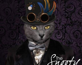 CAT PORTRAIT - Steampunk Cat Portrait, Custom Cat Portrait, Personalized Cat portrait, Cat Art