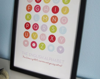 NEW - English Alphabet Print