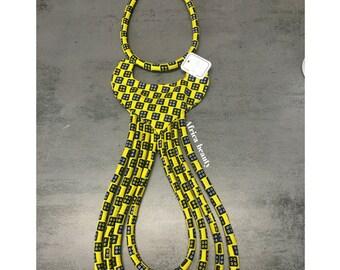 Multirange Ankara necklace