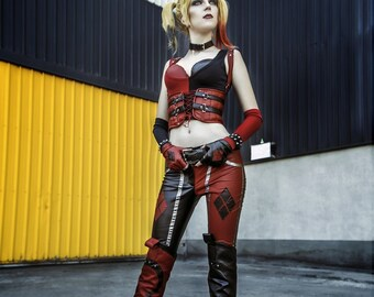 Harley Quinn cosplay costume, Joker girl, Batman, DC comics, Arkham Knight, Halloween costume