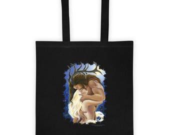 Cernunnos Moon Goddess Lovers Tote bag