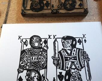 Dos Reyes- Linocut