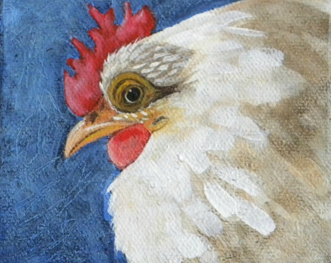 Chicken Scratch blank notecard