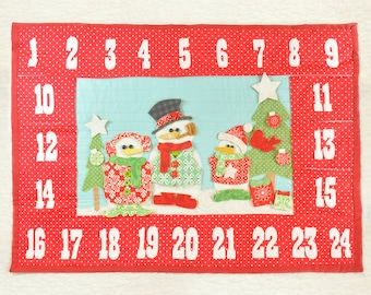 Snowman Advent Calendar PDF Sewing Pattern | Christmas Countdown | Quilted Advent