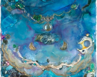 Sacred Masculine Heart - Open and Strong - SacredArt - Encaustic - Visionary Art