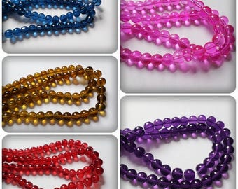 8mm glass beads, Round glass beads, Round beads, Glass beads, Jewellery making, 8mm beads, Craft beads, Round, Glass, 8mm