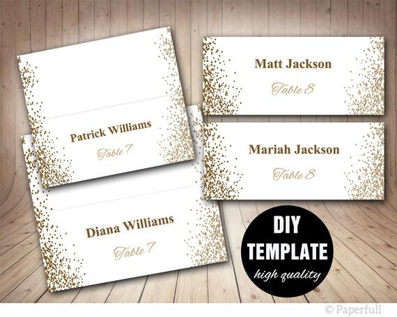 Druckbare Tischkarte Ort Karten Hochzeit goldene Hochzeit