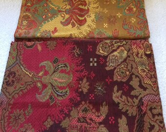 Lot of 2 Vintage Designer fabrics with Asian theme design