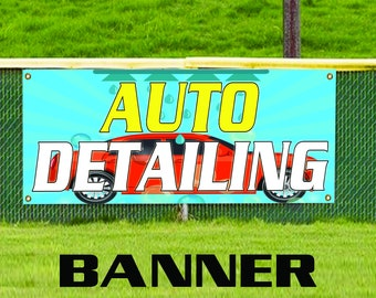 Auto Detailing Information Specifications Business Advertising Vinyl Banner Sign