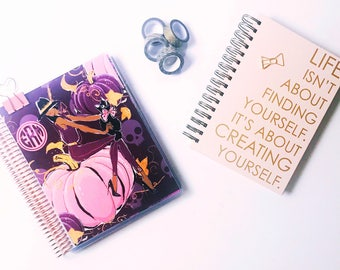 Planner Cover Fall Pink Pumpkin Fashionista Personalized Monogram Erin Condren Life Planner Recollections Dashboard
