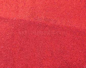 Swimwear Fabric Red/Red Fog Foil Tricot Knit Fabric for Swimwear Activewear Dancer apparel and Sportswear - 1 Yard Style 7002