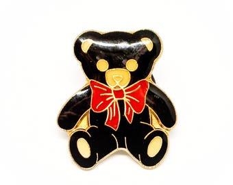 Vintage Teddy Bear Enamel Pin