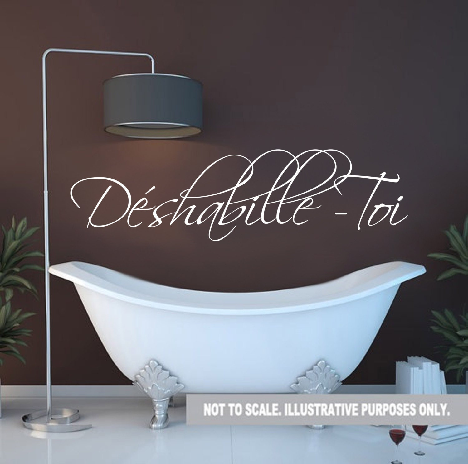 Get Naked Déshabille Toi French Wall Decal Bathroom