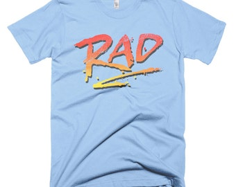 RAD 1980's BMX Bike Movie T Shirt Rad Racing Graphic Logo Tee