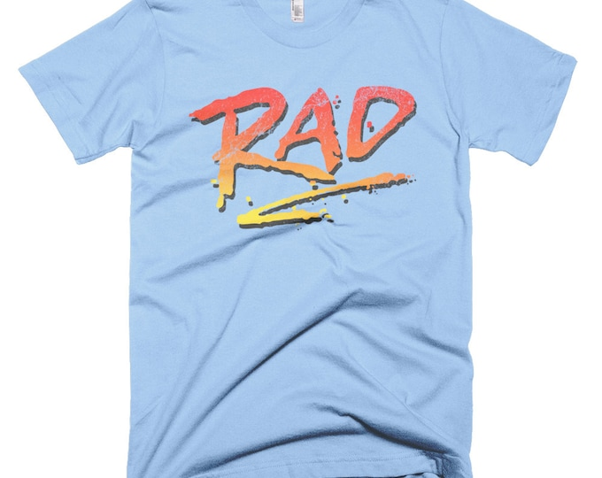 Featured listing image: RAD 1980's BMX Bike Movie T Shirt Rad Racing Graphic Logo Tee