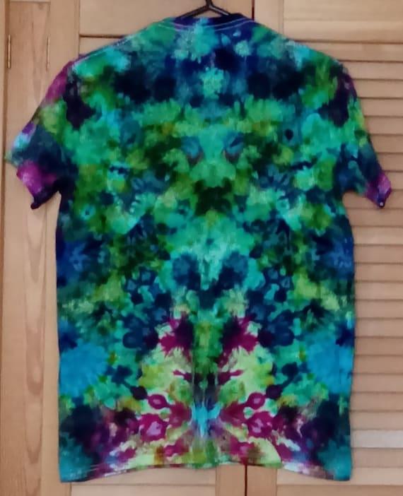 Multicolour Shibori Pole Wound Tie Dye Shirt Made to Order Custom Tie Dye T shirt qq7fzh