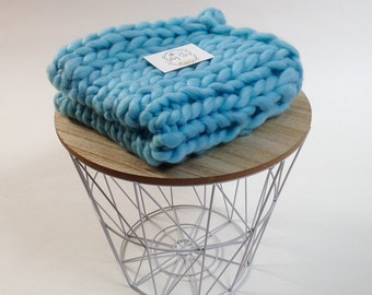 BLUE MERINO BLANKET