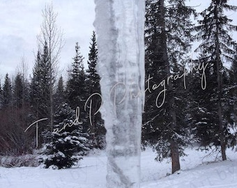 Instant download, DIGITAL download photo, 5 x 7 inch, ICICLE, winter scene, nature photography, printable photo wall art, turtlesandpeace