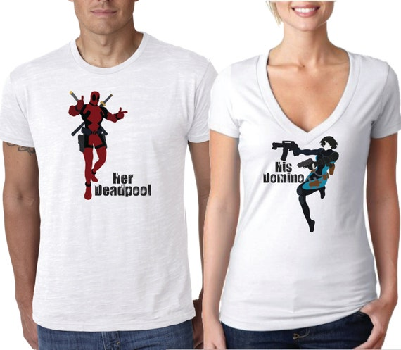 Deadpool Shirt Couples Shirt Deadpool And Domino Shirt