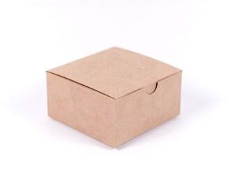 50 Kraft Gift Boxes 5x5x3