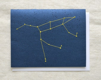 Ursa Major Constellation - Big Dipper - Embroidered Card