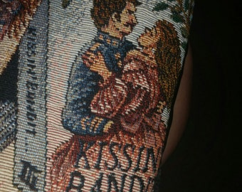 Vintage 80's Romance Novel print tapestry vest  by Mirrors