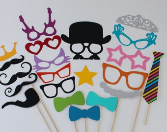 Fun Wedding Photo Booth Props - 24 Normal and Oversized for a Fun and Silly Photo Booth Experience at your next event