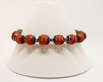 Art Nouveau Vegan Beaded Bracelet / Unique and Ethical Steampunk, Victorian, Edwardian and Vintage Jewellery