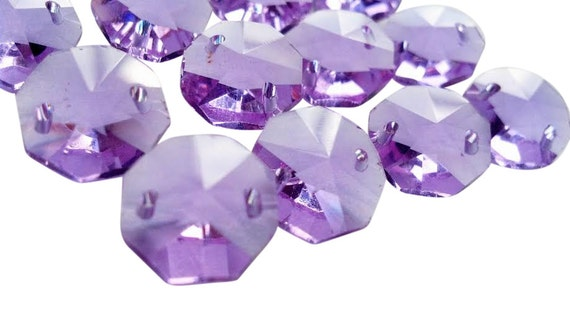 50 lilac octagon chandelier crystal beads lavender purple prisms 50 lilac octagon chandelier crystal beads lavender purple prisms 14mm aloadofball Gallery
