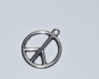large Love charm charm jewelry metal shape Peace and 30mm diameter