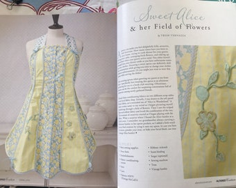 Sweet Alice Apron by Trish Vernazza Featured in  Altered Couture Magazine 2018