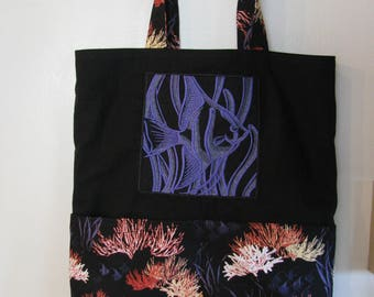 Tropical Fish and Coral Reef Eco Friendly Bag, Tote, Market Tote or Purse