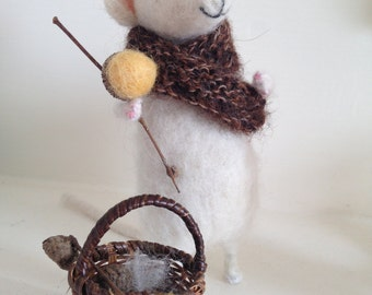 Mr Mystole Felted Mouse - Ethically sourced wool