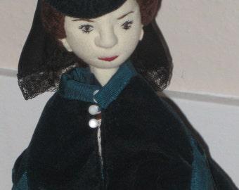 Anna Karenina, a soft sculpture literary figure OOaK doll