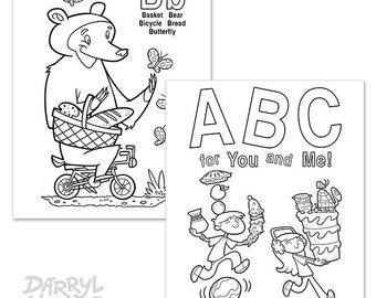 Custom Alphabet Flash Cards Book Digital Printable ABC for