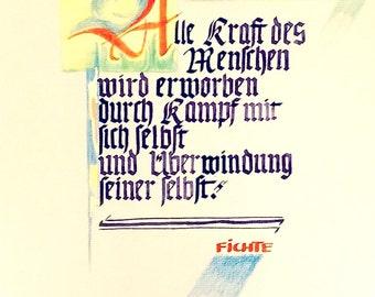 Calligraphic sayings