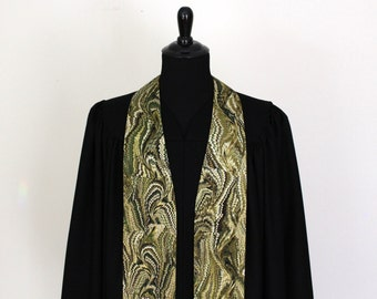 """Clergy Stole, Bookbinder #27, Pastor Stole, Minister Stole, 54"""" Length, Pastor Gift, Vestments"""