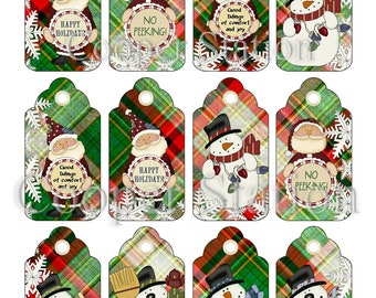 DIY Digital Christmas Gift Tags CT006