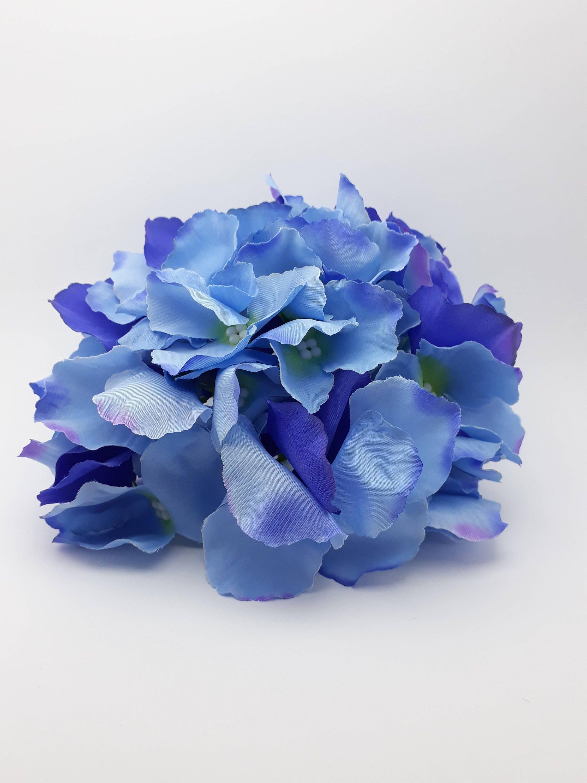 Hydrangea blossom large artificial blue hydrangea silk flower 585 mightylinksfo