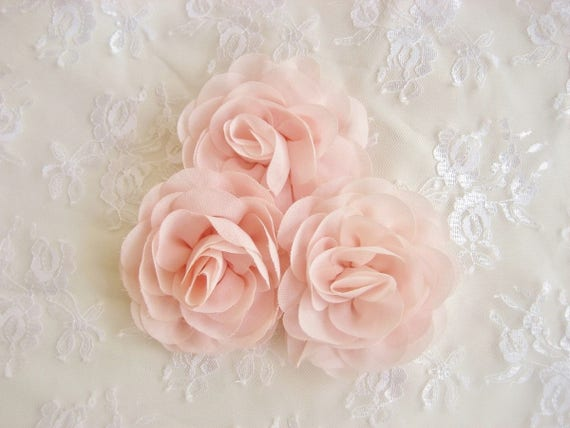 Blush pink chiffon flowers 35 blush pink hand dyed like this item mightylinksfo Images