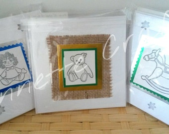 Handmade Christmas Cards pack of 5