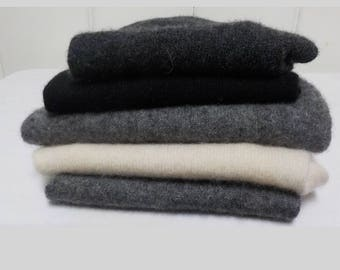 Upcycled Felted Cashmere Sweater Pieces - Black, Gray and Pink