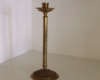 Neoclassical Brass Candle Holder
