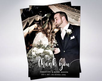 Custom Wedding Thank You Cards & Envelopes | Postcard Option Available | Wedding Thank You | Custom Message | Wedding Postcards | Thank You