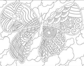 Adult Coloring Pages: Doodles (3 pages)