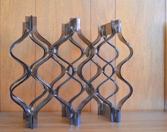 vintage mid-century modern lucite wine rack / midcentury barware / wine holder