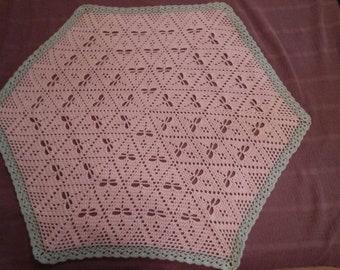 Crochet Dragonfly Hexagon Baby Afghan Blanket