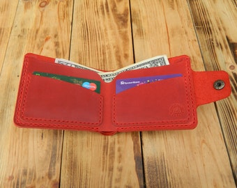 Red wallet for women Billfold wallet leather for men red Wallets for women Small wallet for credit cards this is the best gift for a woman