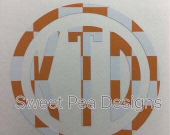 UT style monogram decal